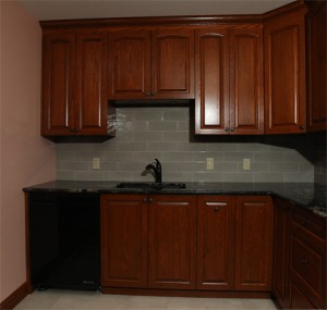 End wall cabinets exterior sized
