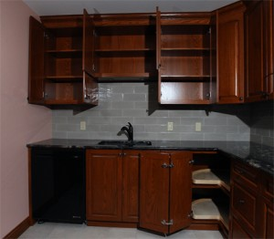 End wall cabinets interior sized