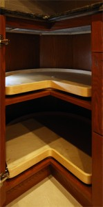 Lazy Susan cabinet interior sized