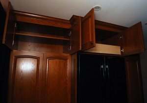 Pantry upper cabinets sized